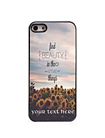 Personalized Gift Find Beauty Things Design Aluminum Hard Case for iPhone 5/5S