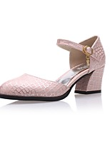 Women's Shoes  Chunky Heel Heels/Pointed Toe Pumps/Heels Outdoor/Office & Career/Dress/Casual Blue/Pink/White