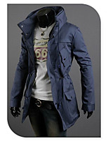 Men's Occasion Pattern Sleeve Length Outerwear Length Outerwear Type (Fabric)