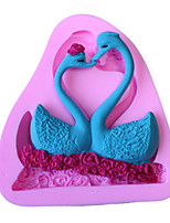 Bakeware Silicone Swan Couple Fondant Mold Cake Decoration Mold
