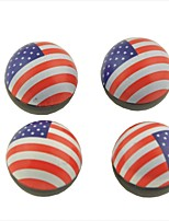 4 Pcs Car Flat Pattern Round Shape Tire Valve Wheel Stem Cap Cover Spare Part