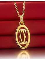 C Brand Pendant 24K Yellow Gold Plated SONA Simulate Diamond Pendant Engagement for Women 925 Necklace Sterling Silver