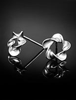 Cute/Party/Casual Sterling Silver Stud Earrings