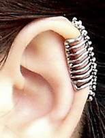 Punk Skull Spine Without Hole Ear Cuffs