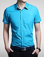 2015 Casual Quality Cotton Fashion Men's Short Sleeve Shirt 7 Color