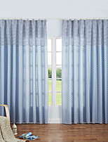 Cozzy More High-grade Cotton Half Shading Contemporary And Contracted Wind Curtain 2 Pieces