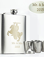 Personalized Stainless Steel Flasks 8-oz Flask Knight