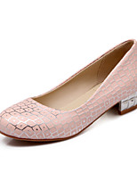 Women's Shoes Chunky Heel Comfort / Round Toe Heels Outdoor / Office & Career / Dress / Casual Blue / Pink / White