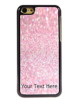 Personalized Gift Pink Sand Design Aluminum Hard Case for iPhone 5C