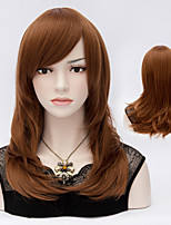 Charming Color Brown  Natural Wave Lady Wigs Hair Beautiful Synthetic Hair Wigs