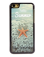Personalized Gift Hello Summer Design Aluminum Hard Case for iPhone 5C