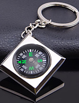 Zinc Alloy Fashion  Square Compass Key Chain Ring Keyring