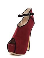 Women's Shoes  Stiletto Heel Peep Toe Sandals Casual Black/Red