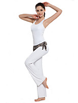 Mulheres Ioga Ternos / Moletom / 3/4 calças justas Sem Mangas Respirável / wicking Branco / Rosa / Laranja IogaS / M / L / XL / XXL /