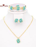 WesternRain Children's jewellery Set /Lovely Fashion Necklace /bracelet/ rings /earrings Baby Jewelry for kids girls