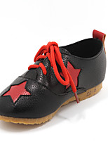 Girls' Shoes Outdoor/Casual Closed Toe Faux Leather Fashion Sneakers Black/Pink