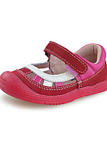 Baby girls Shoes Outdoor/Dress/Casual Suede Mary Jane Flats Red/Silver