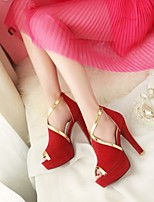 Women's Man-made leather Thin Heel with Peep-toe Sandals More Color