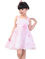 Kids Girl's Embroidered Cosplay Performers Princess Party High Waist Party Dresses (Cotton Blends)