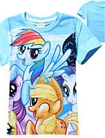 Tee-shirts Fille de Manches Courtes Eté Coton