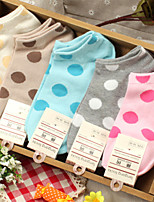 HONORV™ Women's Thin Candy Dot Colors Socks(5 Pairs/Package,Mix Colors)