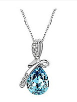 Classic (Angel Tears) Platinum-Plated Crystal Necklace