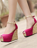 Women's Shoes Slipsole Heel with Peep-toe Sandals More Color