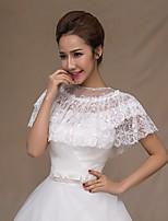 Wedding shawl Wedding  Wraps Capelets Sleeveless Lace Ivory/Ruby