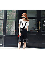 Women's Black T-shirt , Round Neck ½ Length Sleeve