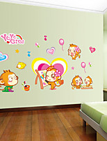 Wall Stickers Wall Decals Style Monkey PVC Wall Stickers