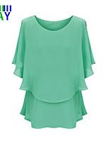 ZAY Women's Summer Cool Casual Short Sleeve Chiffon Loose T-shirt