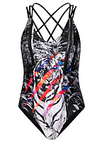 Women's Halter One-pieces Wireless Polyester Multi-color