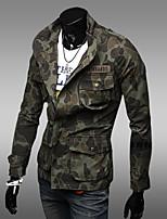 Men's Long Sleeve Jacket , Canvas Casual Print