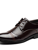 Men's Shoes Office & Career/Casual/Party & Evening Leatherette Oxfords Black/Brown
