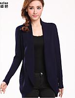 Women's Solid Blue/Pink/Black/Green/Orange Cardigan , Casual Long Sleeve