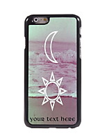 Personalized Gift The Moon and The Sun Design Aluminum Hard Case for iPhone 6 Plus