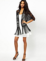 EILA Women's Vintage/Sexy/Bodycon/Beach/Lace/Party ¾ Sleeve Coats & Jackets (Lace)