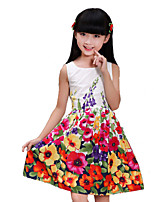 Girl's Cotton/Polyester Dress , Summer/Spring/Fall Sleeveless