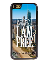 Personalized Gift I am Free Design Aluminum Hard Case for iPhone 5C