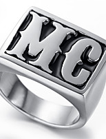 Mens Stainless Steel Ring, Vintage, Fashion, MC KR2008