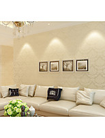 Contemporary Wallpaper Floral 0.53m*10m Wall Covering Non-woven Paper Wall Art