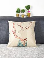 Creative Mr. Deer Pillowcase Sofa Home Decor Cushion Cover (17*17 inch)
