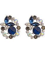 Women's Elegant Butterfly Diamond-Studded  Zircon Stud Earrings HJ0064