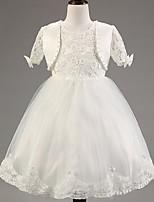 Girl's Lace/Satin Dress , All Seasons Short Sleeve