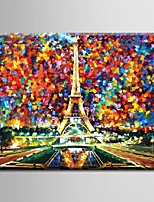 Oil Painting Decoration Abstract Night Scene Hand Painted Canvas with Stretched Framed