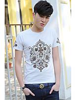 T-shirt Uomo Casual Con stampe Manica corta Cotone/Elastene