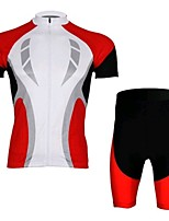 Red Short Sleeved Jersey Suit, Moisture Cycling Wear, Motor Function Material