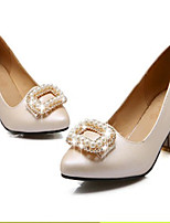 Women's Shoes  Chunky Heel Round Toe Sandals Outdoor/Office & Career/Casual Pink/Beige
