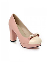 Women's Shoes Synthetic Chunky Heel Heels/Basic Pump Pumps/Heels Office & Career/Dress/Casual Blue/Pink/Purple