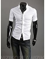 15 Color M-2XL High-Quality Mens Shirts Fashion 2015 Short Sleeve Shirt Hot Sell